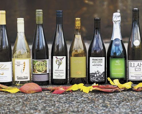 Oregon Gruner Veltiner bottles