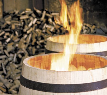 barrel being fired
