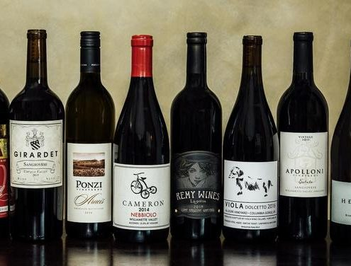 Lineup of Oregon's Italian wines