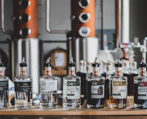 Adrift distillers bottles